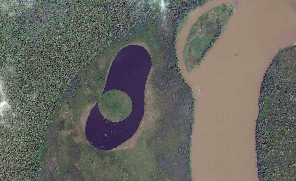 circular lake