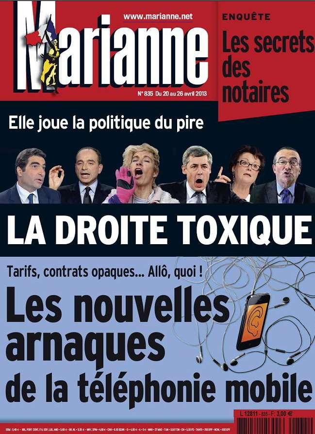 Marianne N°835 du 20 au 26 Avril 2013