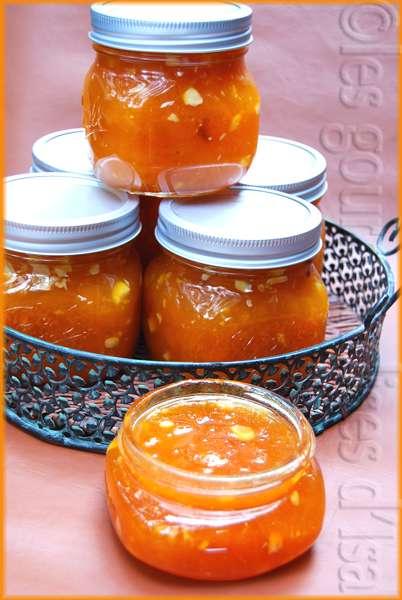confiture abricot jus de citron